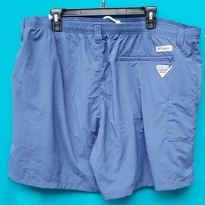 Men's Blue Columbia Lined Fishing Shorts Size XXL